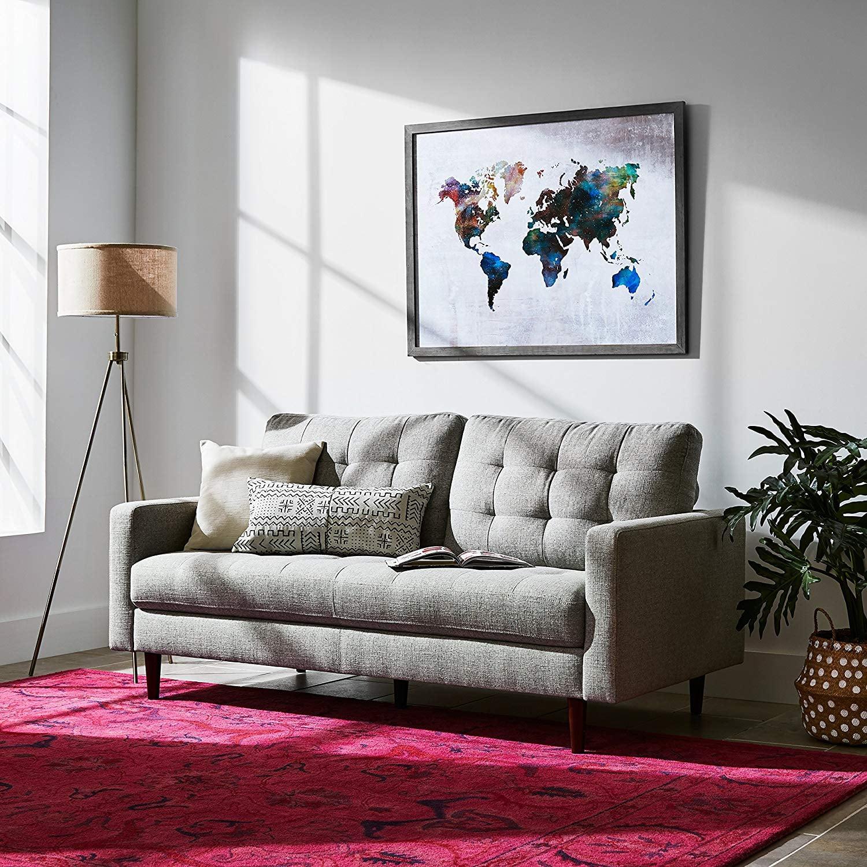 Rivet Mid-Century Modern Tripod Living Room Decor Floor Lamp ...