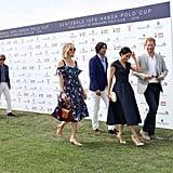 Prince Harry and Meghan Markle at Sentebale Polo 2018