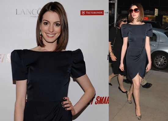 Anne Hathaway Continues to Promote Get Smart, Looks Happy Post-Breakup