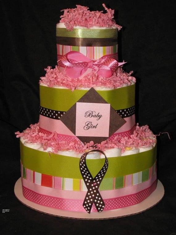 Confetti Diaper Cake