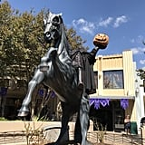 The Headless Horseman terrorizes Buena Vista street.