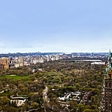 The apartment features stunning views of New York City's Central Park.