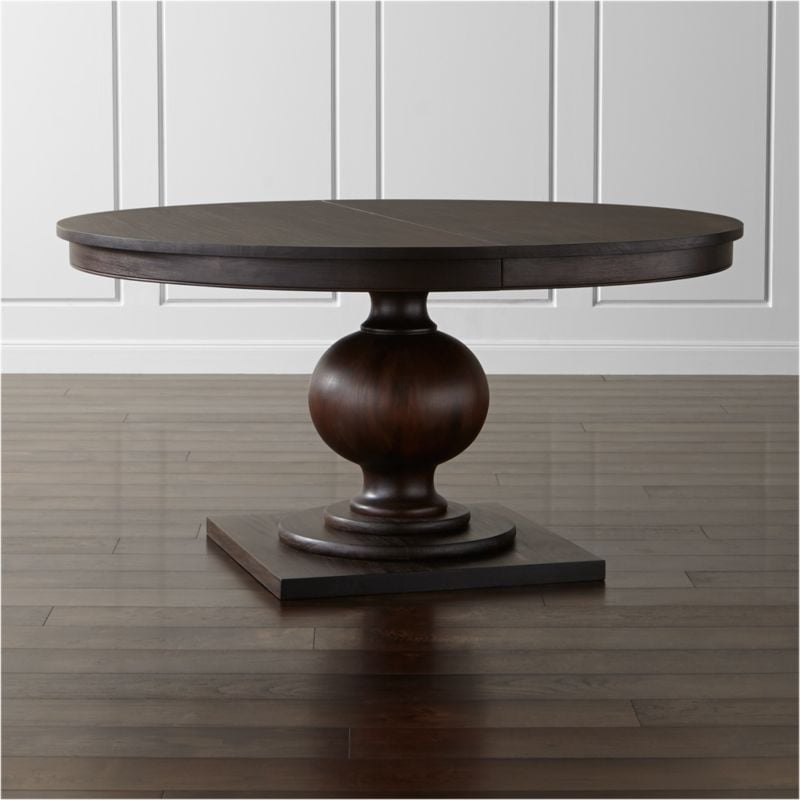 Evil Queen: Winnetka Round Dark Mahogany Extendable Dining Table