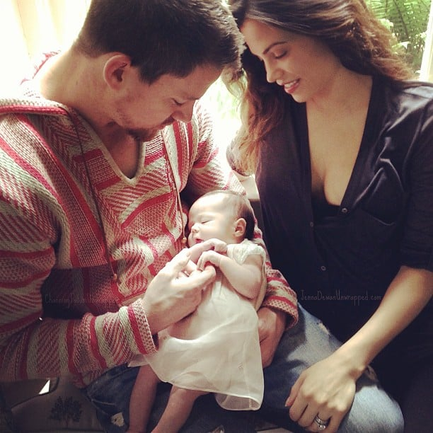 Channing Tatum and Jenna Dewan debuted their daughter, Everly, on Facebook. Source: Facebook user Channing Tatum