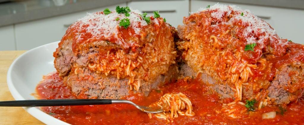 Giant Spaghetti-Stuffed Meatball | Food Video