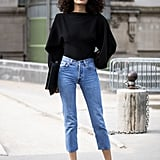With a Simple Black Top and Anything-but-Simple Shoes
