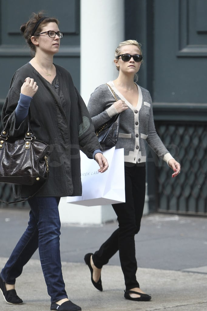 Reese shopped with a friend in NYC.