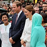 Will and Kate were all smiles in Malaysia on day four.