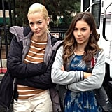 """Jaime King made the """"not impressed"""" face with McKayla Maroney on the set of Hart of Dixie. Source: Instagram user jaime_king"""