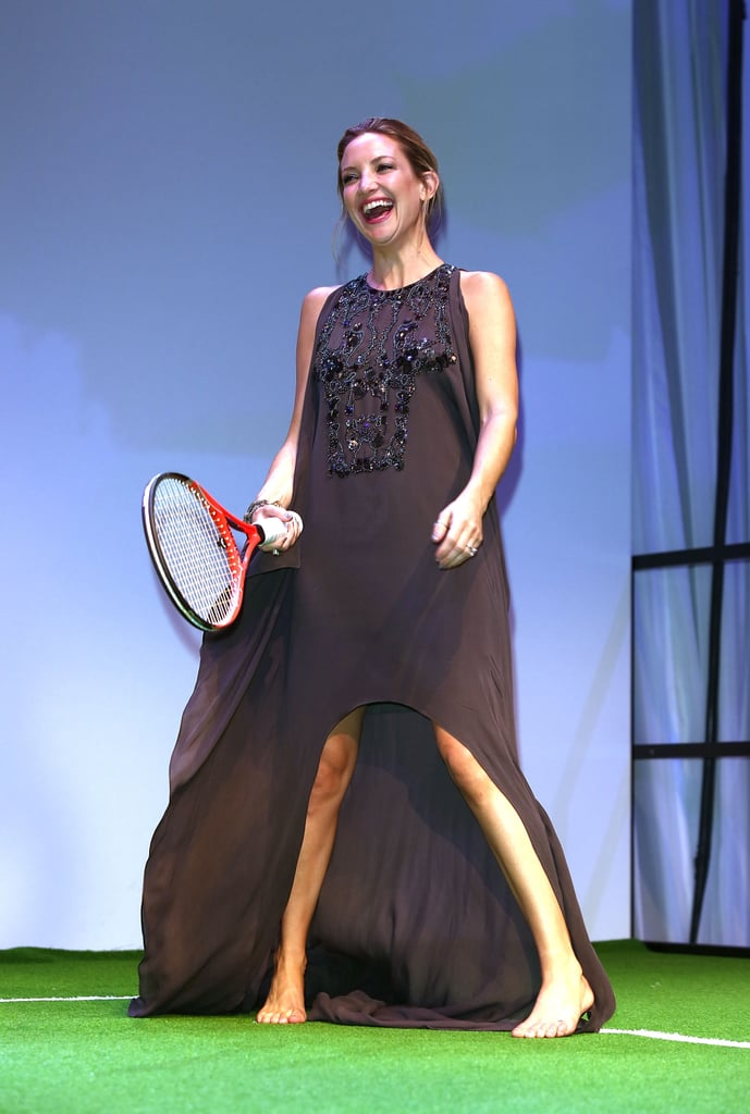 Kate Hudson played tennis at the London gala.