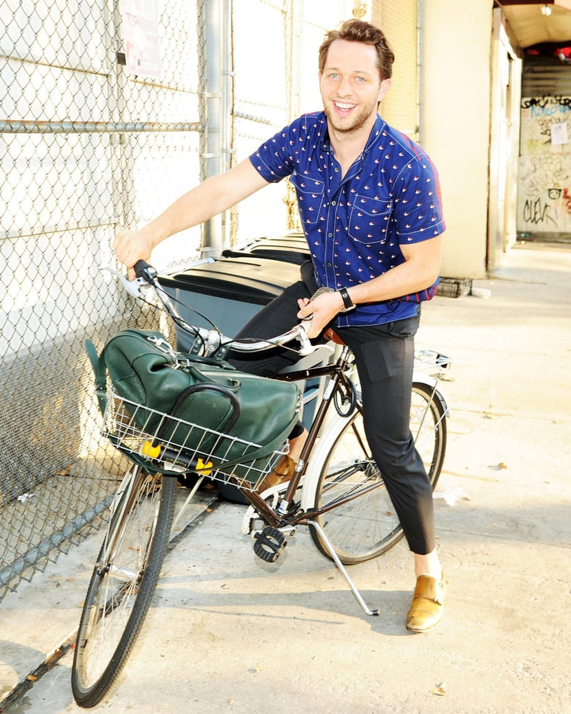 Derek Blasberg rode into the Australian Fashion Foundation's Soho Grand event.
