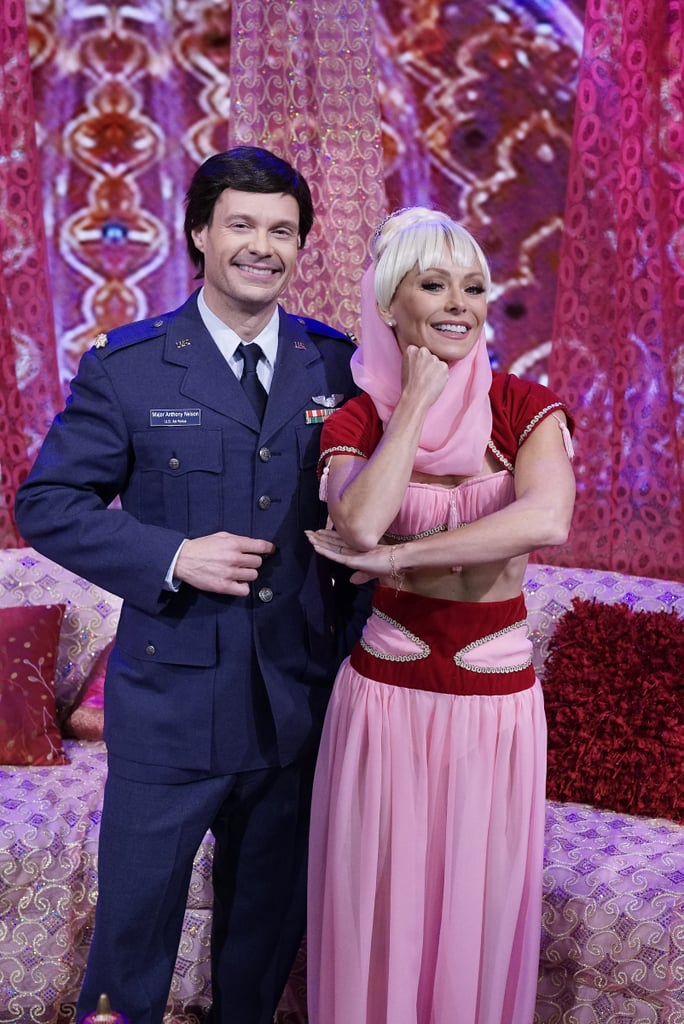 Kelly Ripa and Ryan Seacrest as Jeannie and Major Nelson From I Dream of Jeannie