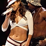 "In 2001, Jennifer and Ja Rule steamed up the stage with a sexy performance of ""I'm Real (Remix)."""