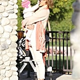 Jessica Alba held Haven at the park.