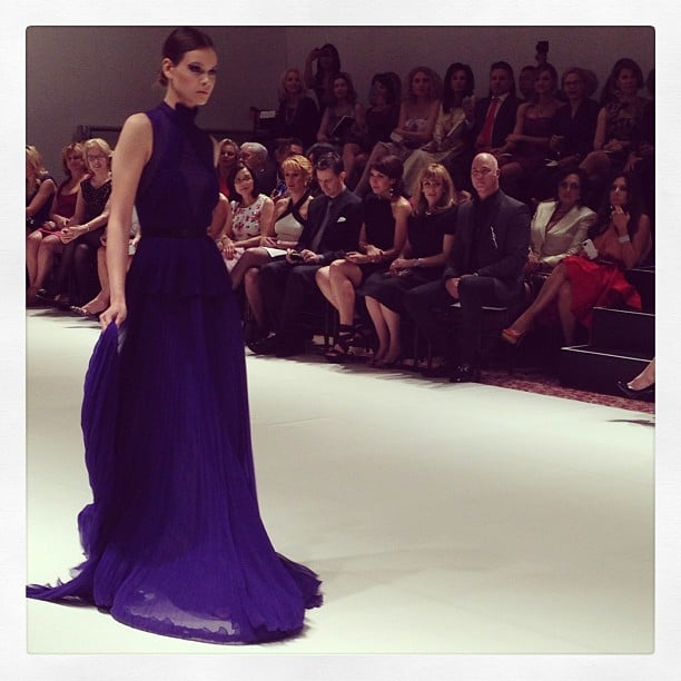 How stunning is this purple gown?
