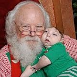 Boy Missing Skull Jaxon Strong Kissing Santa