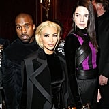 Kanye, Kim, and Kendall Struck a Pose After the Balmain Show
