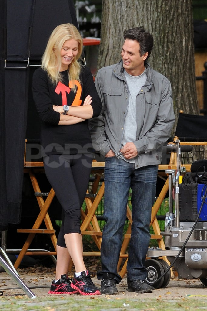 Gwyneth Paltrow and Mark Ruffalo worked together on Thanks For Sharing in NYC.