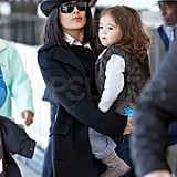 Salma Hayek tops her do with hats.