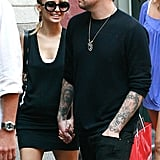 Nicole Richie held onto Joel Madden's hand during a 2007 stroll in NYC.