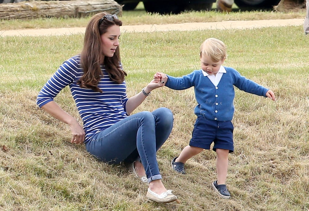 Even More Adorable Pictures of Prince George and the Duchess of Cambridge at Will's Match