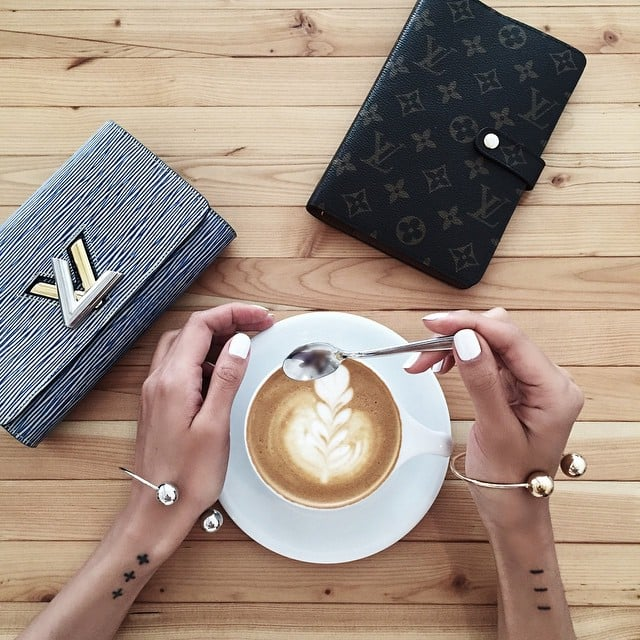 Fashion Bloggers With Coffee Instagram Photos