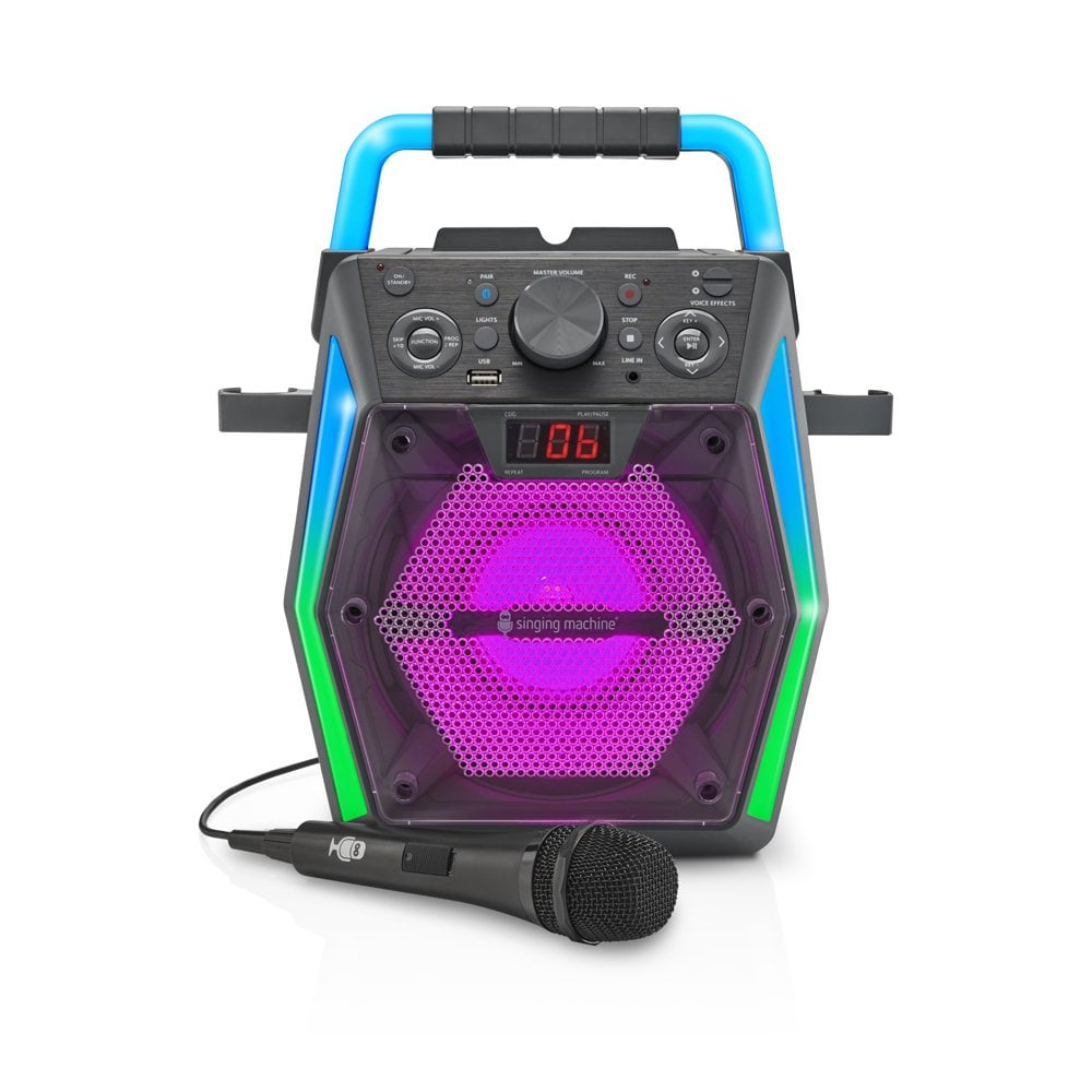 Singing Machine Glow Bluetooth CDG Karaoke Machine