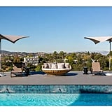The couple's pool with a view can easily be mistaken for a resort.