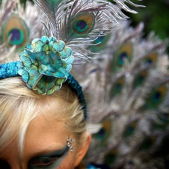 DIY Peacock Costume Made From Photographs