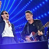 Alejandro Sanz and Marc Anthony bring joy to the crowd with their performance in Miami.