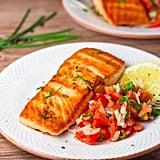 Pan-Grilled Salmon With Tomato Salsa