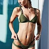LA Hearts Luxe Seamless Fixed Triangle Bikini Top ($27)