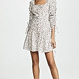 Nicholas Ruched-Sleeve Button Front Dress