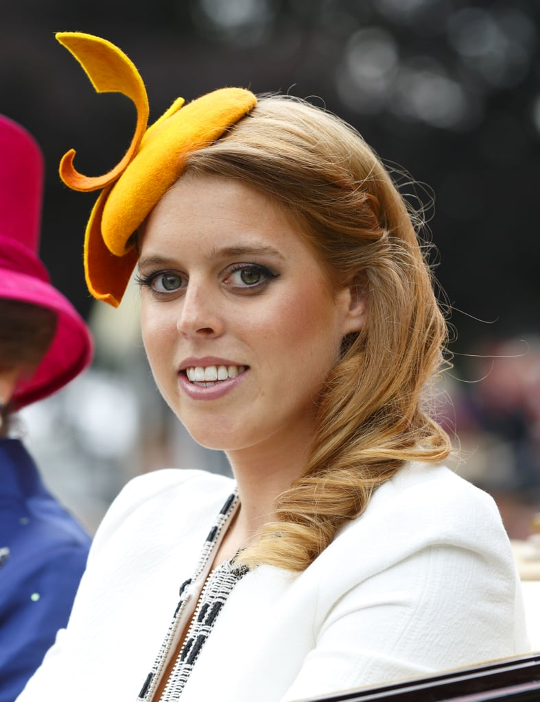 Princess Beatrice wore this vibrant goldenrod fascinator to the Royal Ascot in 2014.