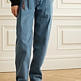 Re/Done x Savi Pleated High-Rise Tapered Jeans