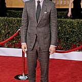 Looking sharp in Tom Ford's plaid, the actor arrived for the 19th annual Screen Actors Guild Awards.