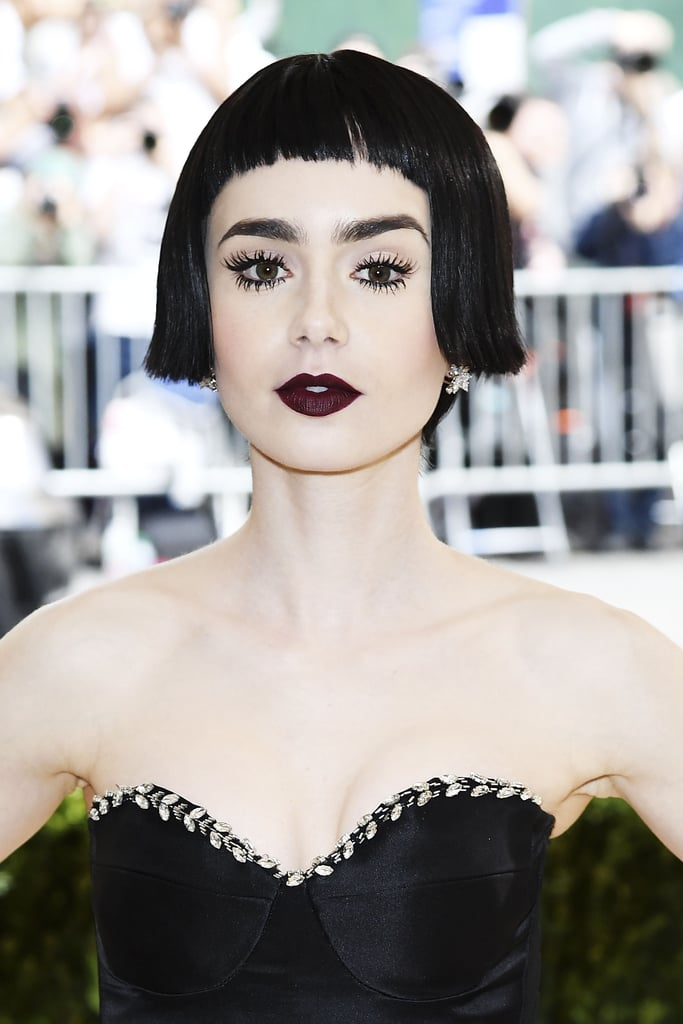 Lily Collins Hair Makeup at the 2017 Met Gala | POPSUGAR ...