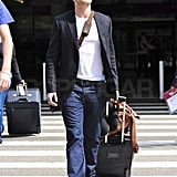 Kellan Returns to LA With a Smile Following His Loved-Up NYC Vacation With AnnaLynne