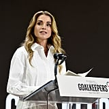 Queen Rania White Shirt Dress