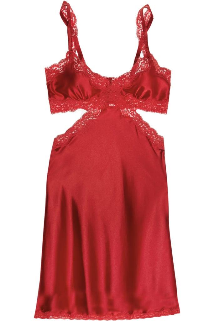 Stella McCartney Red Clara Whispering Silk Chemise