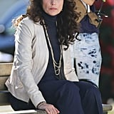 Andie MacDowell was on set for Cedar Grove in Vancouver, Canada, on Thursday.