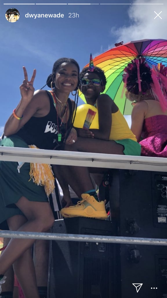 "When it comes to knocking the whole blended family thing out of the park, it's officially safe to say that Gabrielle Union is a master. Over the weekend, she supported her stepson, Zion, as he marched in the pride parade in Miami, and the photos are beyond sweet. Although his father Dwyane Wade couldn't make it due to a game against the Toronto Raptors, you can bet a ton of other family members — including his older brother Zaire — were there to show their support for the 11-year-old.  And just an FYI: Zion hasn't spoken out about his sexual orientation just yet, but no matter — by the looks of the photos, his entire family is there for him regardless. Read through to get a look at some of the snapshots from the day, and try to keep from smiling ear to ear.       Related:                                                                                                           How These ""Accidental Gay Parents"" Are Redefining Family"