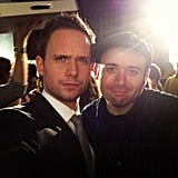 Patrick J. Adams shared a photo on the set of Suits. Source: Instagram user halfadams