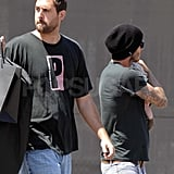 David and Harper Beckham out in LA.