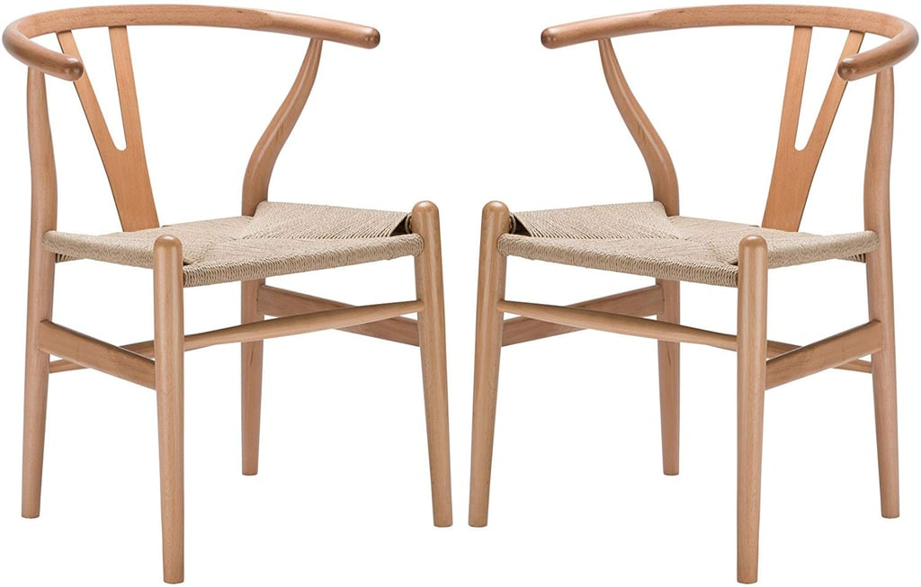 Poly & Bark Weave Modern Wooden Mid-Century Dining Chairs