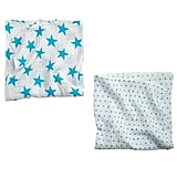 Aden + Anais Blue Star Swaddle Blankets