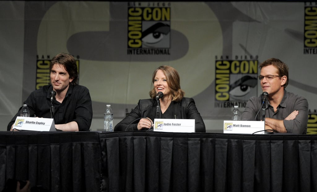 Sharto Copley, Jodie Foster, and Matt Damon talked.
