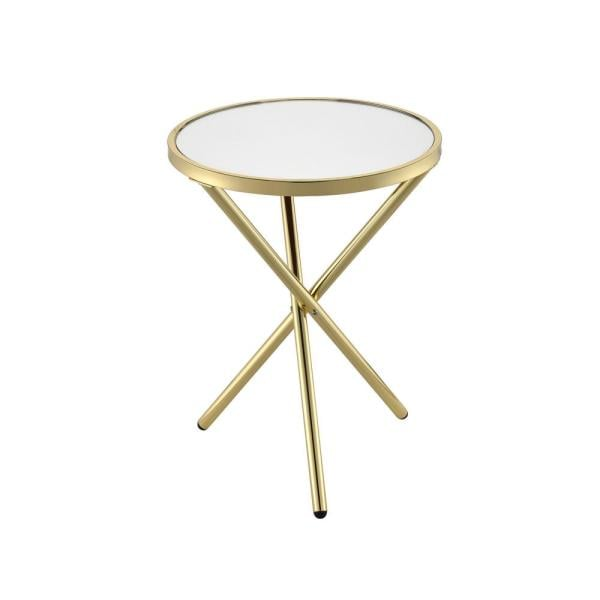 Venetian Worldwide Lajita Gold and Mirror Side Table