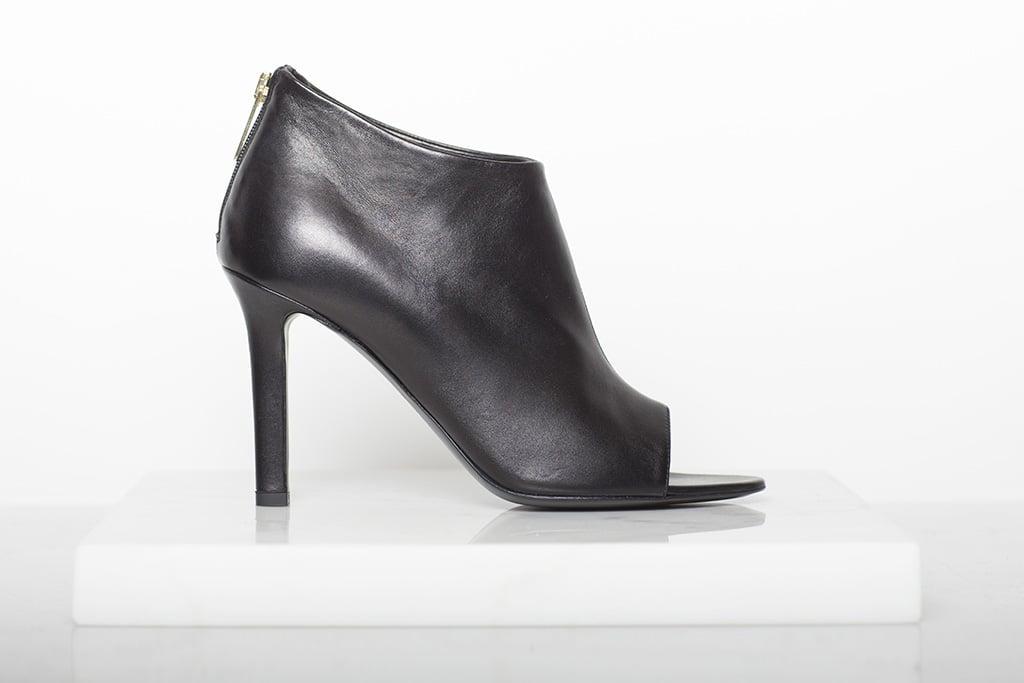 Desire Nappa Open Toe Bootie in Black Photo courtesy of Tamara Mellon