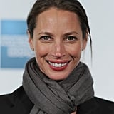 Christy Turlington got bundled up in a scarf at the premiere of Hysteria at the 2012 Tribeca Film Festival.